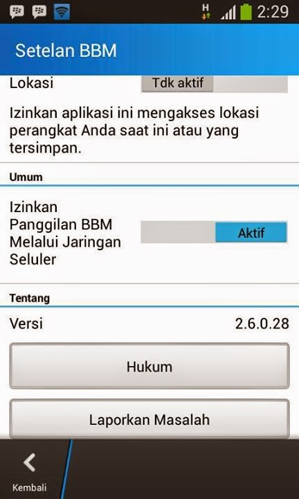 BBM Official Versi 2.6.0.28 + Free Sticker