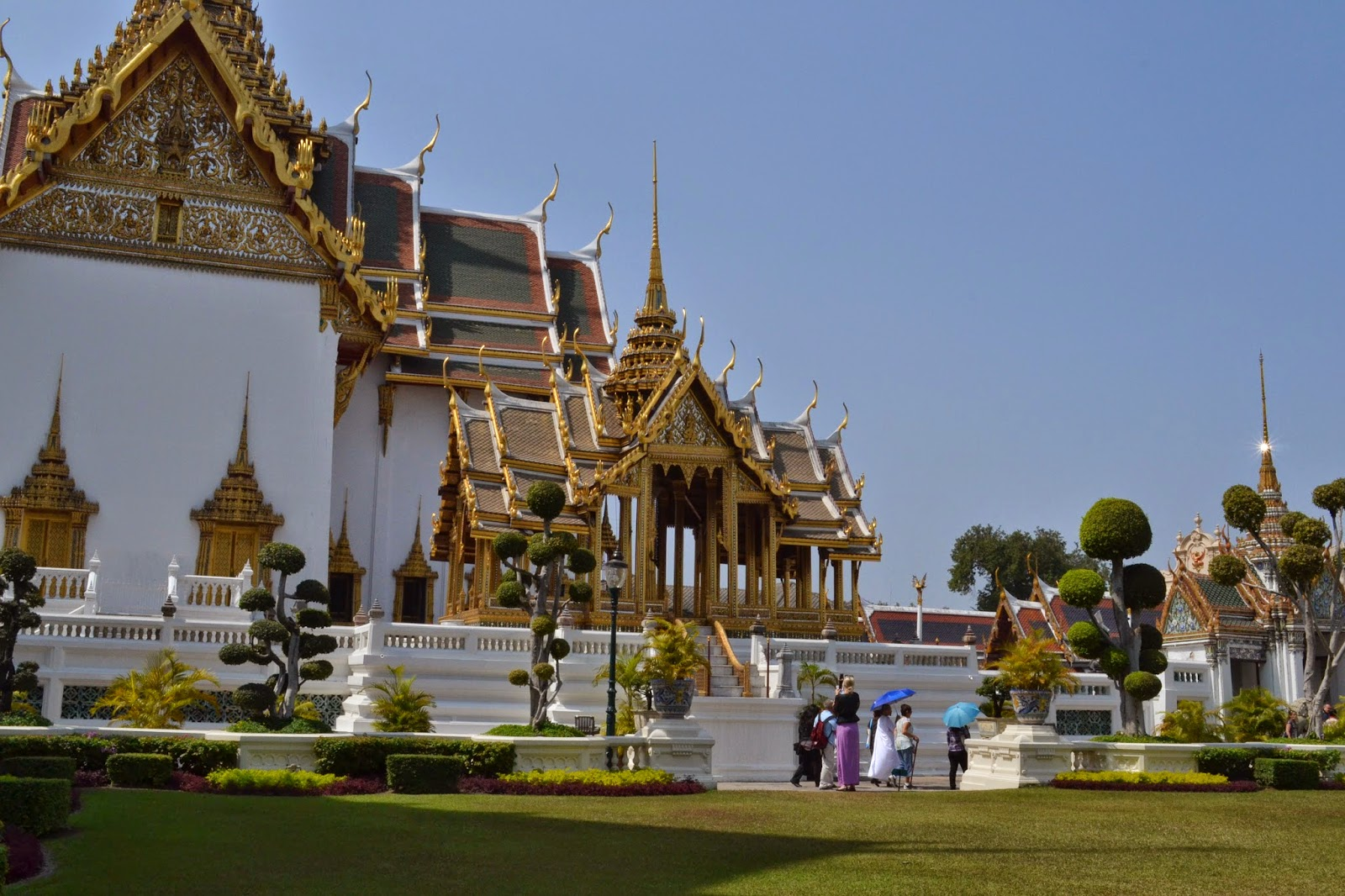 bangkok, voyage, quartier des temples, temples