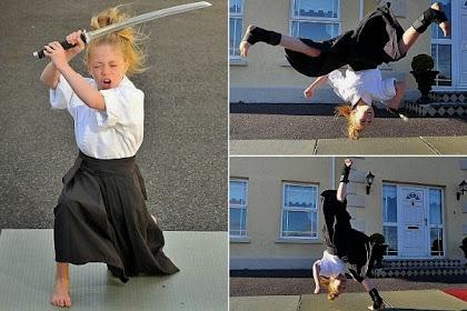 Bocah Sembilan Tahun Ini Ahli Menggunakan Pedang Samurai