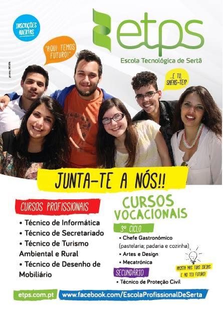 Cursos Profissionais e Vocacionais na Sertã (2014 / 2015)