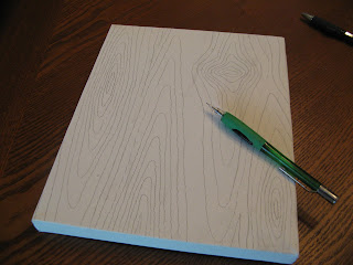 Drawing faux wood grain pattern #2