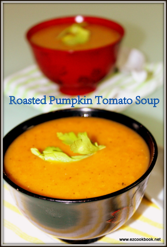 Roasted Pumpkin Tomato Soup | EzCookBook