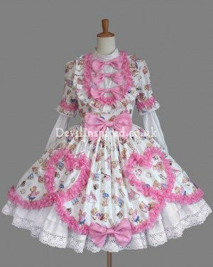 Sweet Bear Printed Rococo Lolita Dress