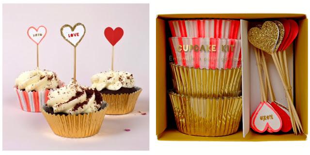 meri meri valentine day cupcake kit