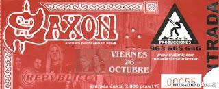 entrada de concierto de saxon