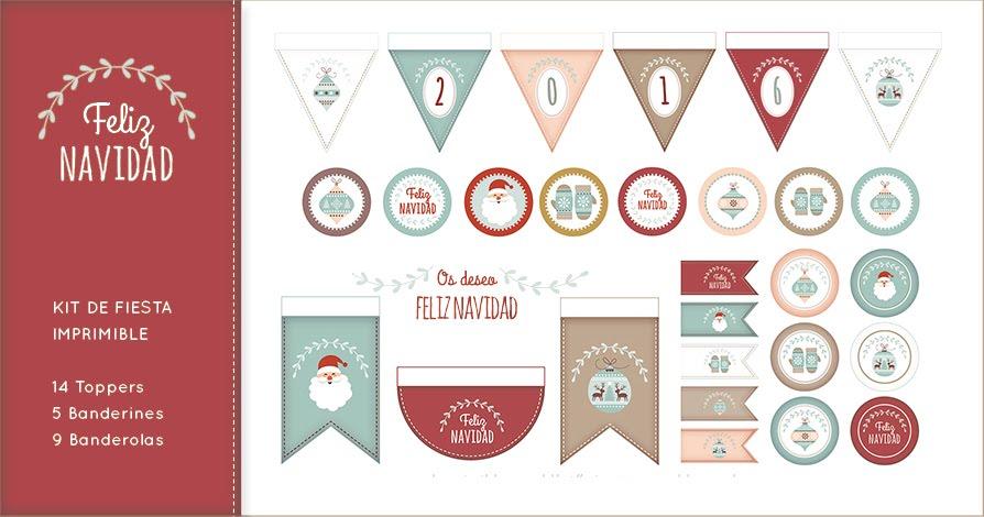 Freebie: imprimibles para festejar la Navidad - Odisea gráfica