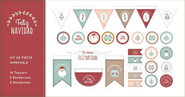 kit fiesta imprimible navidad