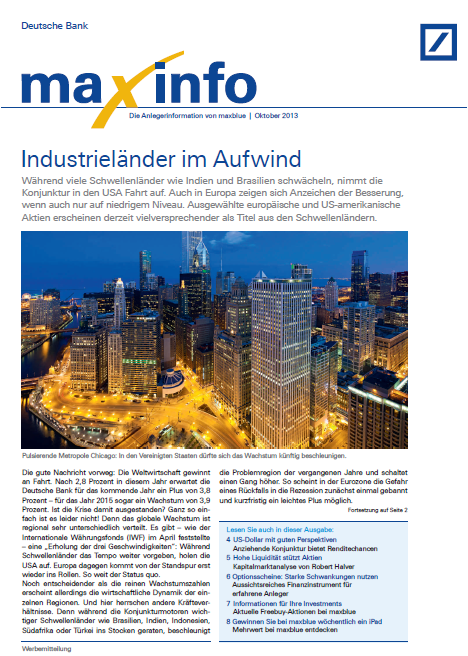 maxinfo, maxblue, deutsche bank
