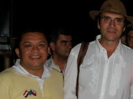CANTOR JOSE ANTONIO NA CIDADE DE VOTUPORANGA COM O CANTOR ALMIR SATER.