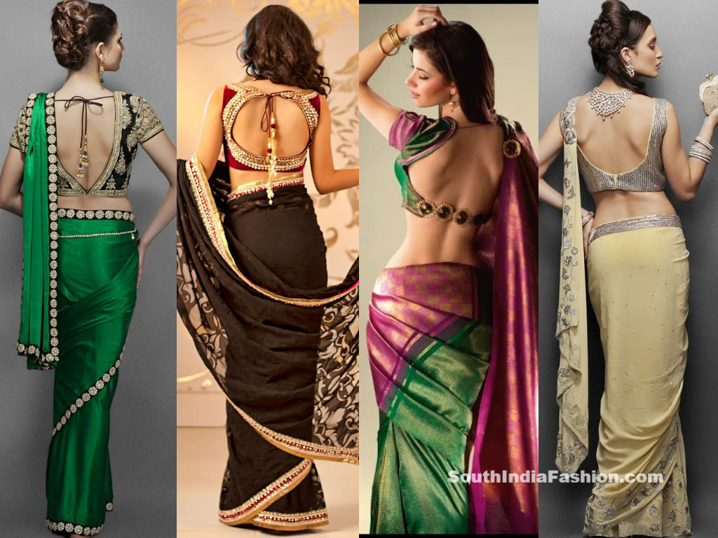 the gallery for gt blouse patterns for net sarees