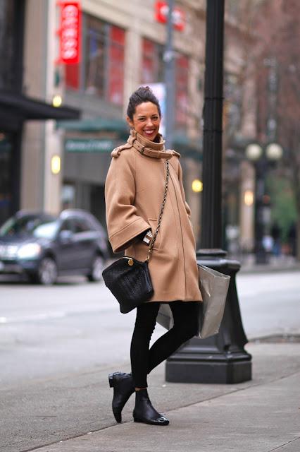 Sarah Miller Camel Coat Seattle Street Style fashion it's my darlin'