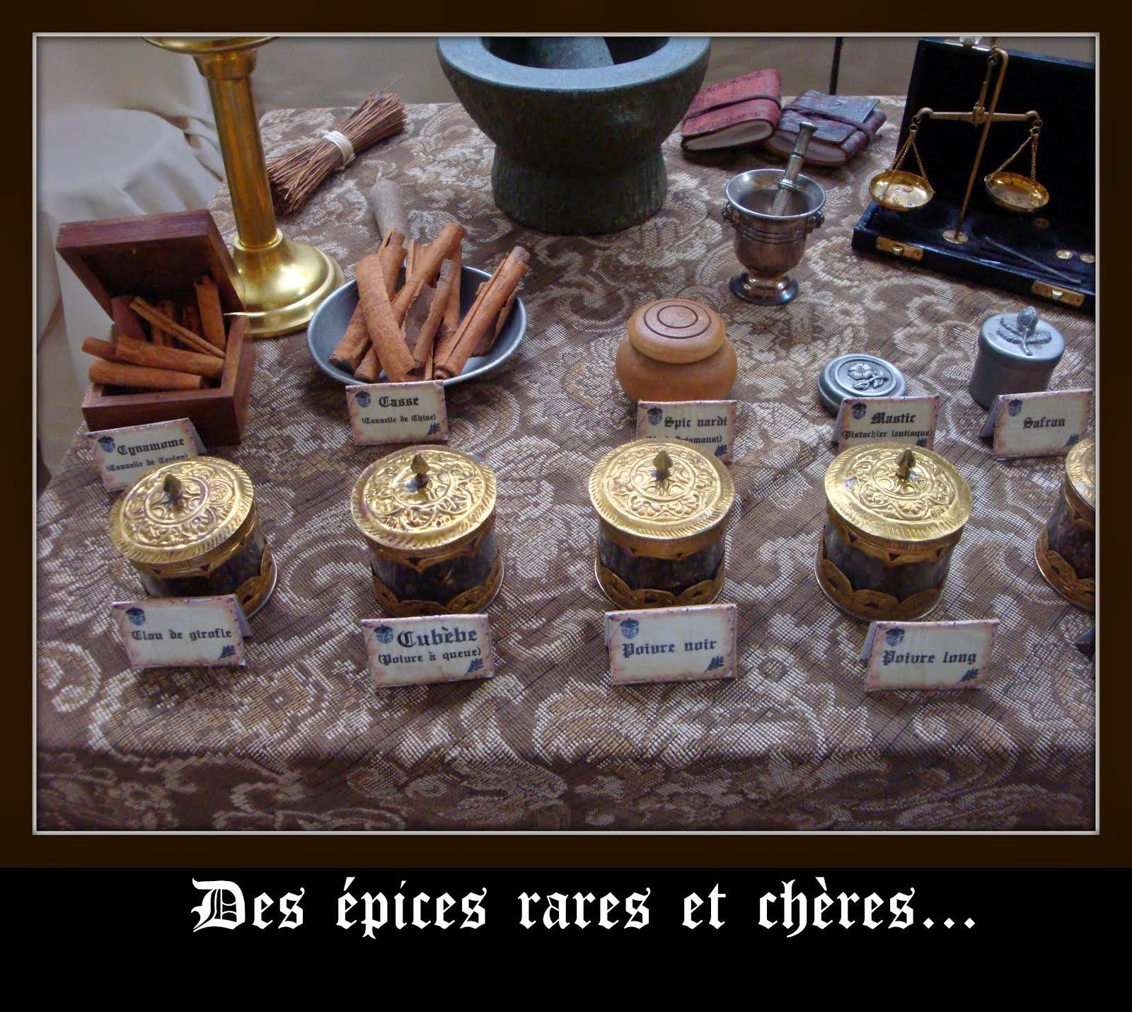 Les épices de l'apothicairerie...