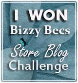 Yippee!! Winner at Bizzy Becs 4th Feb