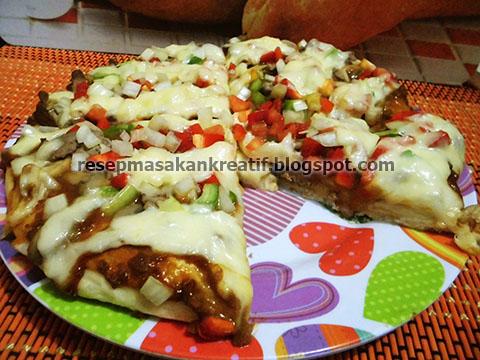 resep pizza keju saus barbeque ala rumahan   aneka resep