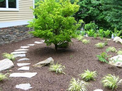 foto diseño jardines pequeños con piedras y plantas