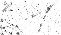 pixel art, macpaint, old school, B/W, computer art, UNTITLED 3