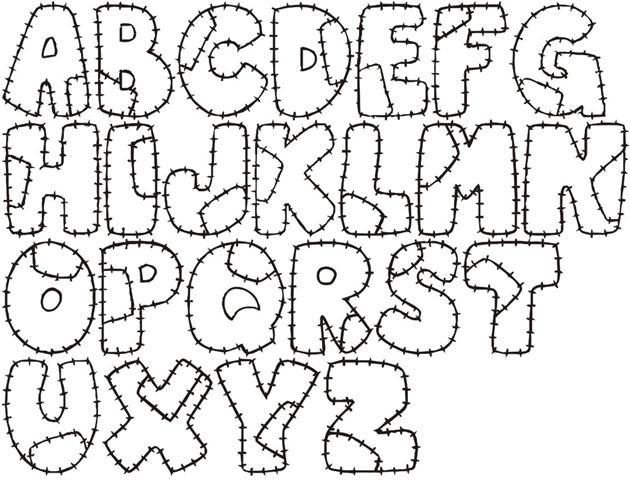 moldes de letras manualidades en foami para niños moldes
