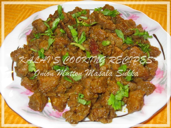 Onion Mutton Masala Sukka