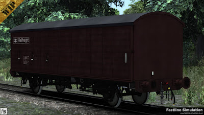 Fastline Simulation: This COV AB has gained the VBA TOPS code and is wearing grubby maroon livery complete with a hardly noticable white roof from when it was allocated to Rowntrees chocolate traffic.