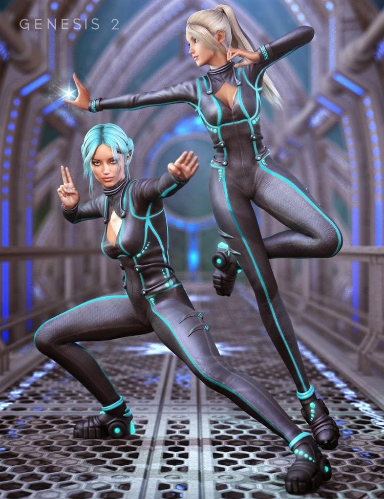 Manga-Anime Battlesuit pour Genesis 2 Femme