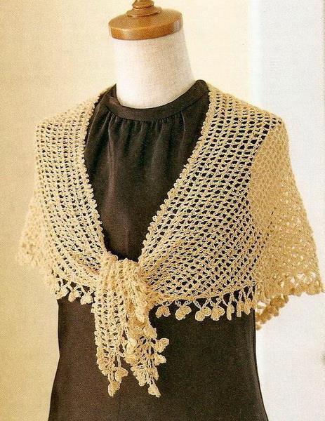 Easy Crochet Shawl Patterns Beginners : Stylish Easy Crochet: Easy Crochet Lace Shawl Pattern