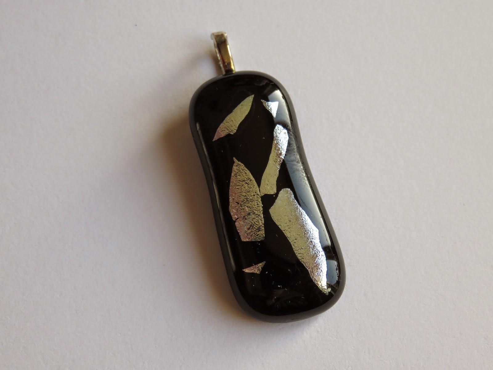 black glass pendant zwarte glazen hanger
