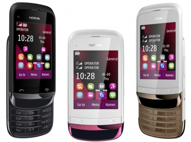 Nokia C2-03 Touch and Type Slider phone