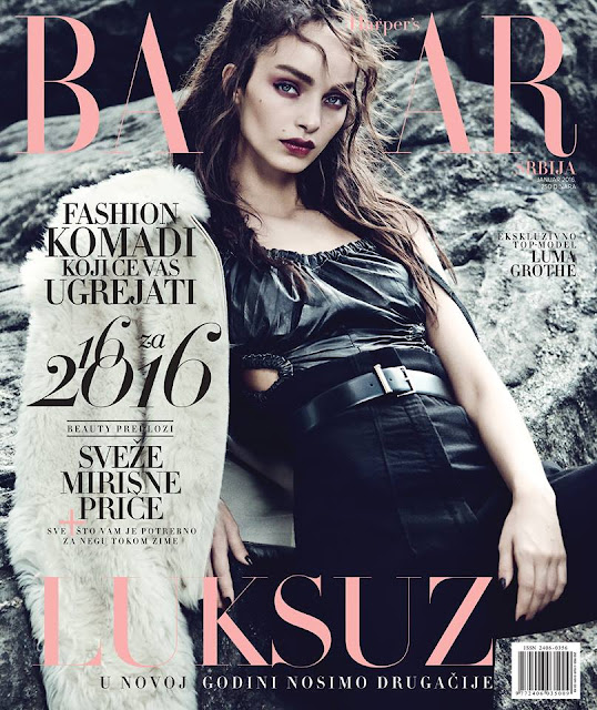Fashion Model, @ Luma Grothe by Yossi Michaeli for Harper's Bazaar Serbia, January 2016