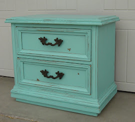 Teal Night Stand (SOLD)