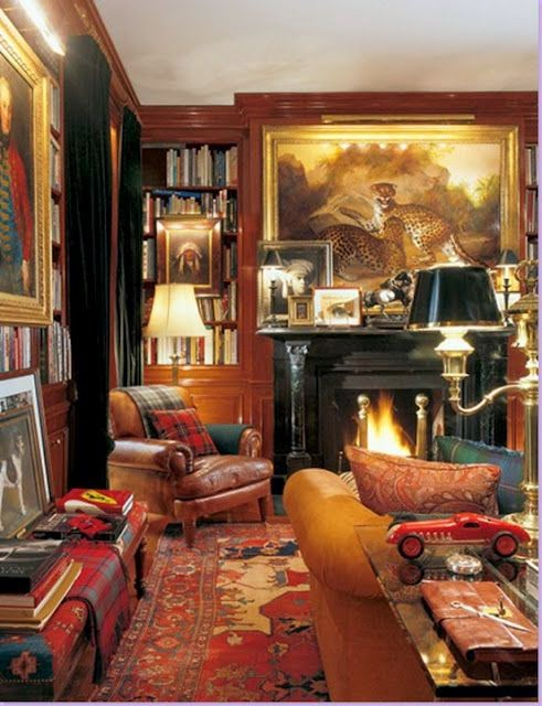From Ralph Lauren Who Knows His Way Around An Ivy League Preppy Interior.