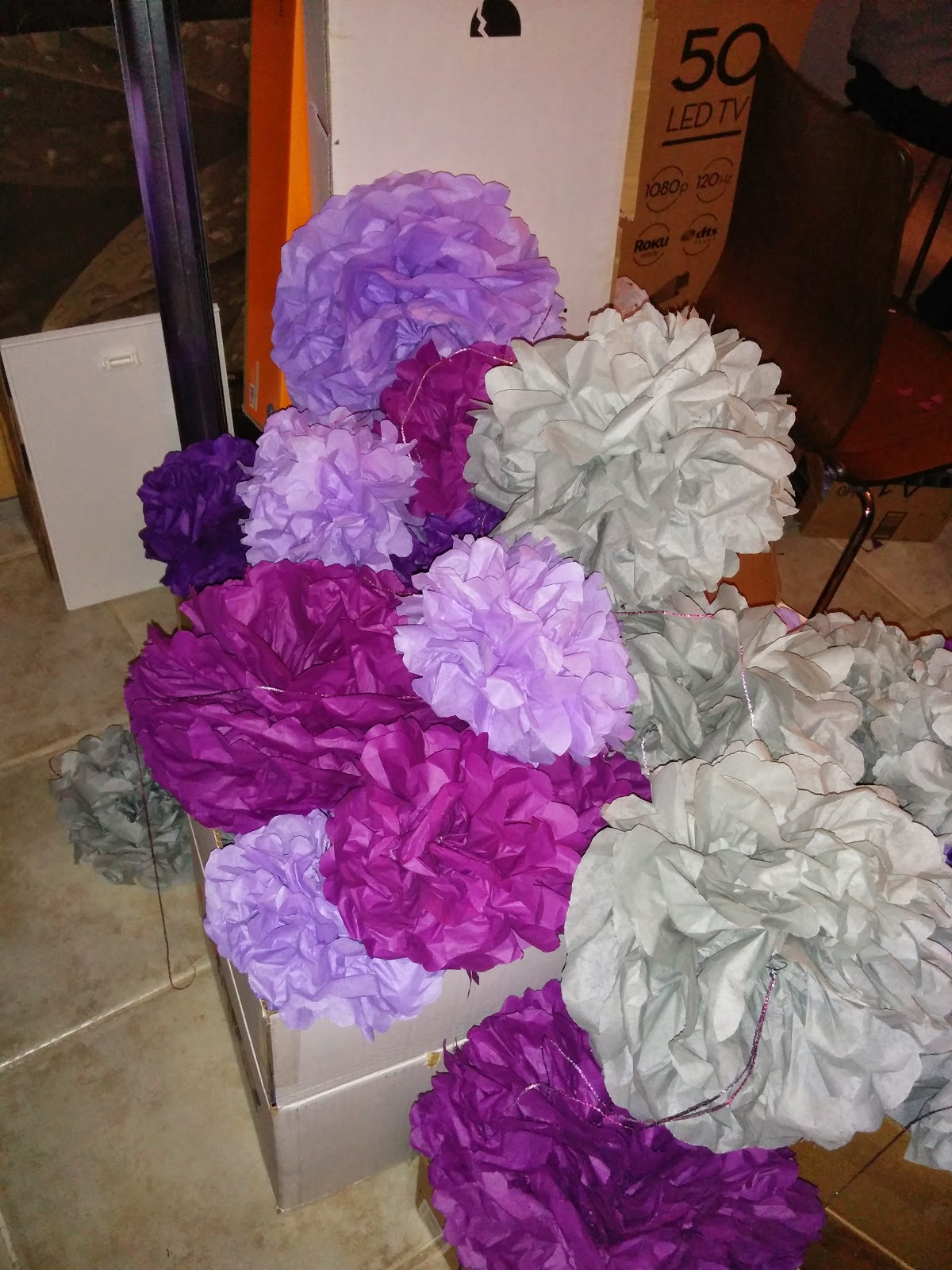 paper puff balls for wedding