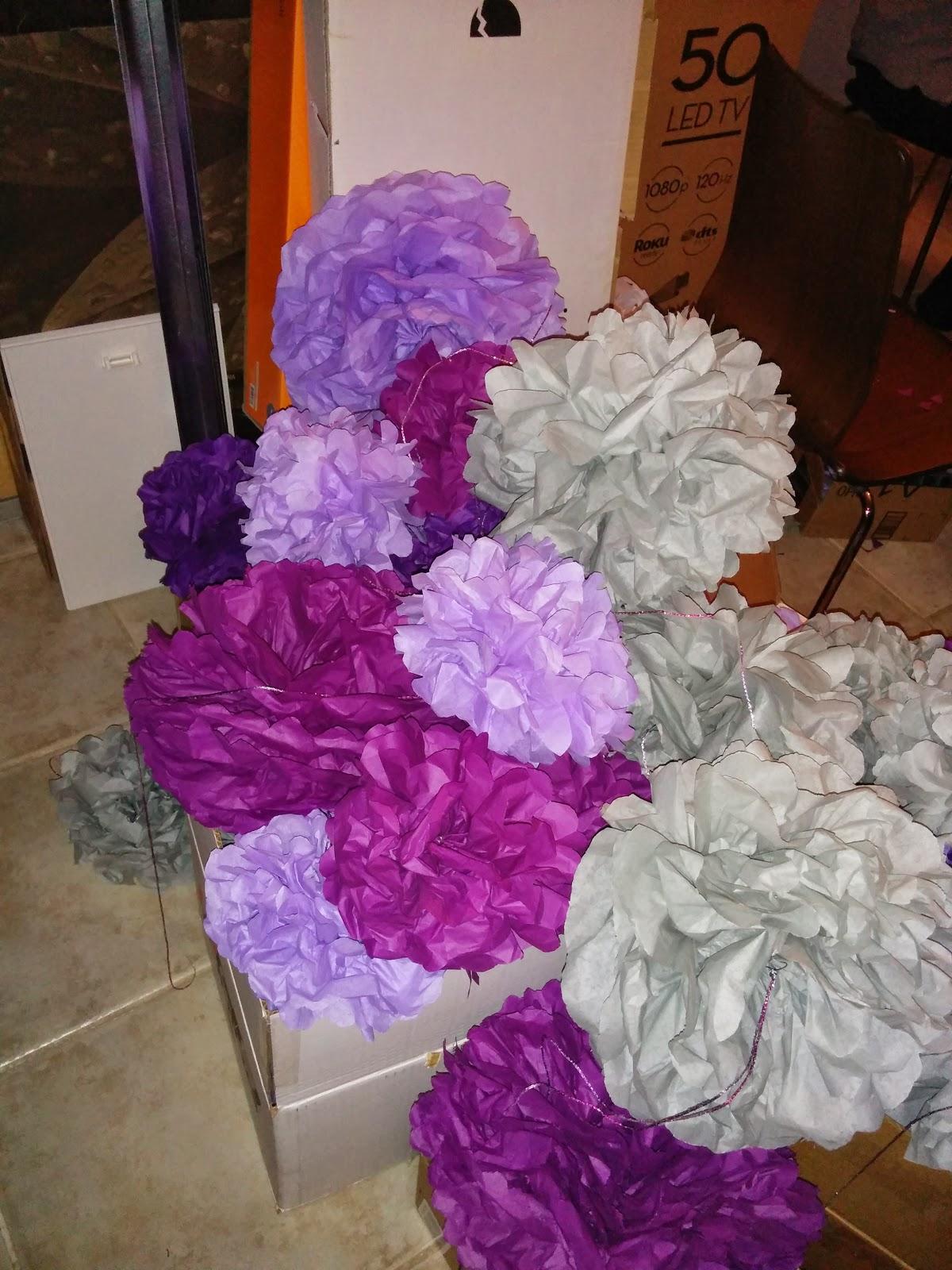 paper puff balls for wedding