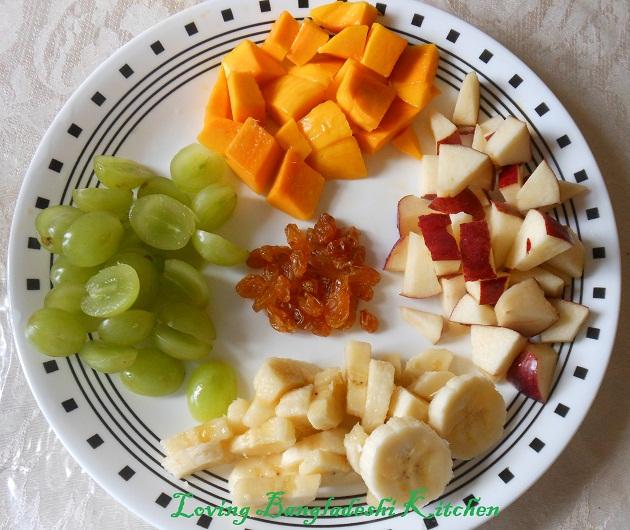 Image result for fruit custard