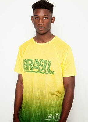 camiseta Mundial Brasil Pull and Bear
