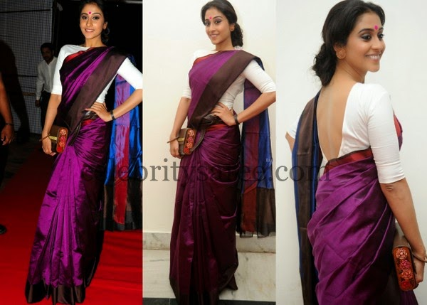 Regina Purple Color Silk Saree