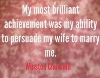 Winston Churchill quote on marriage