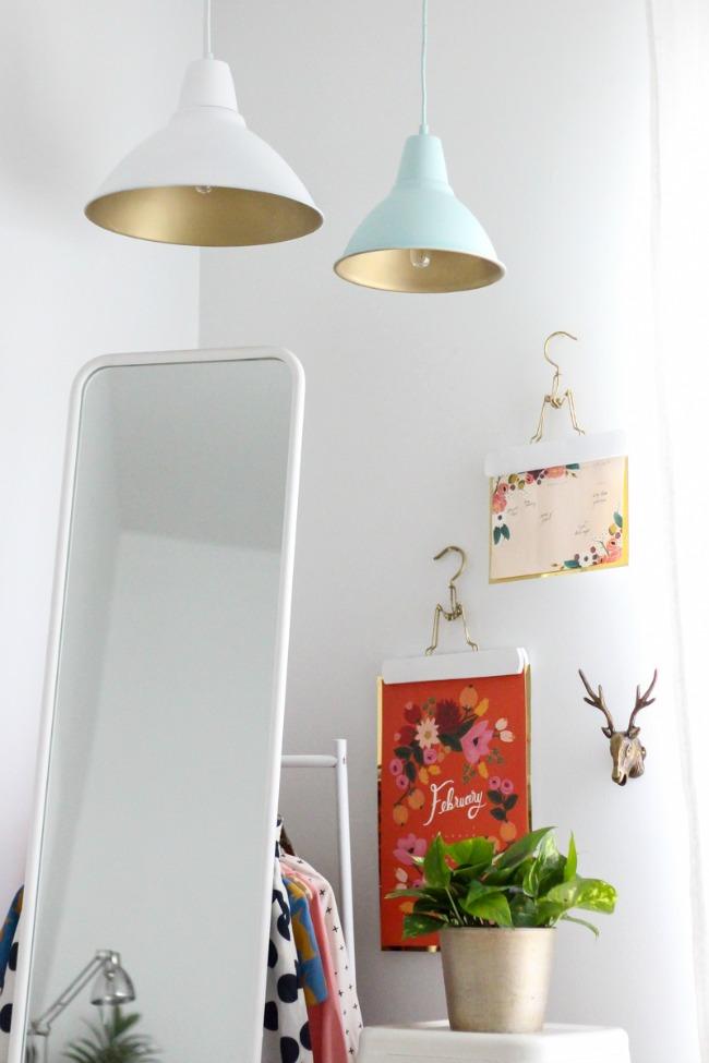 DIY: Haz una l�mpara industrial en colores pastel con chalk paint