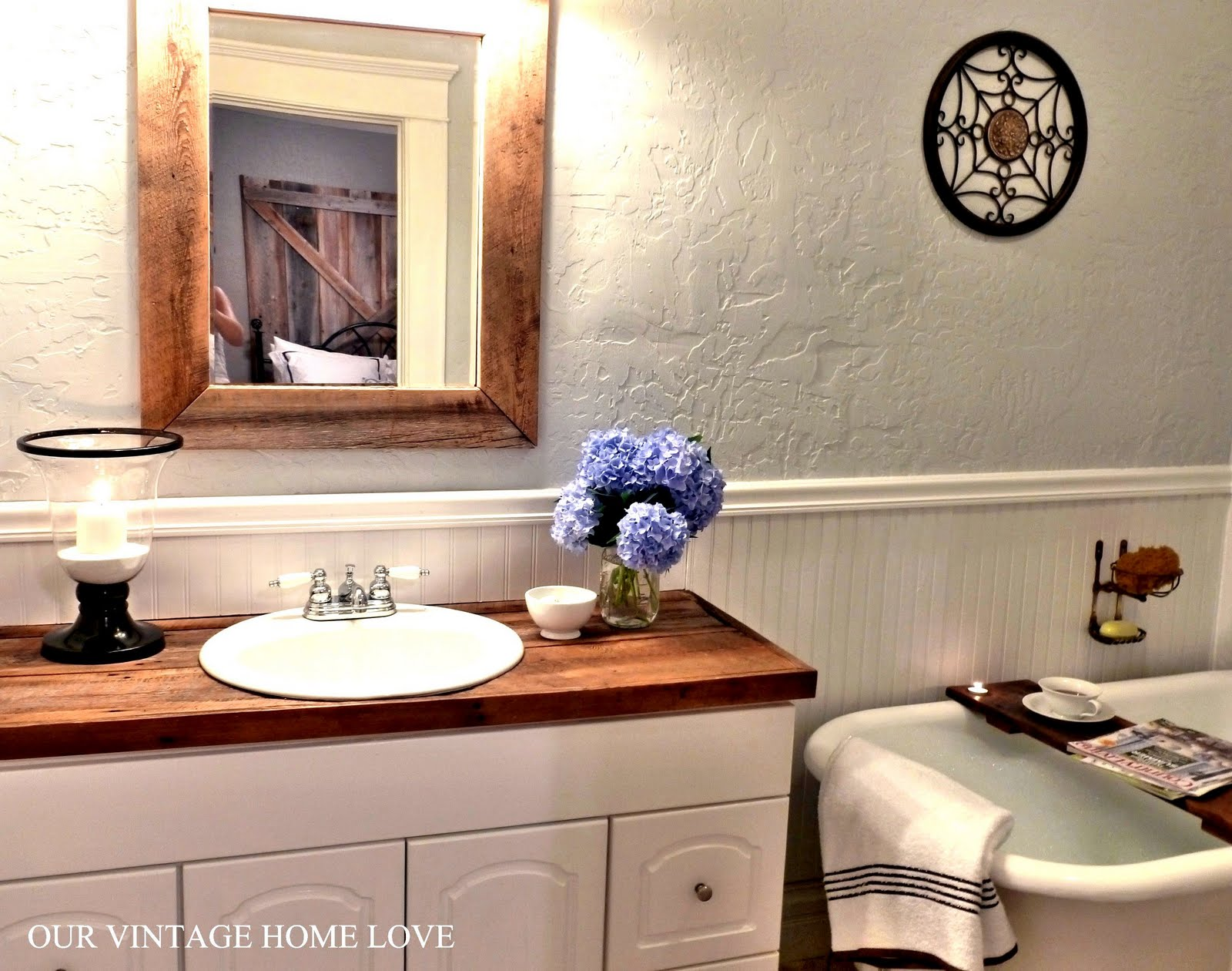 Vintage Home Love Master Bath Redo Featuring Reclaimed