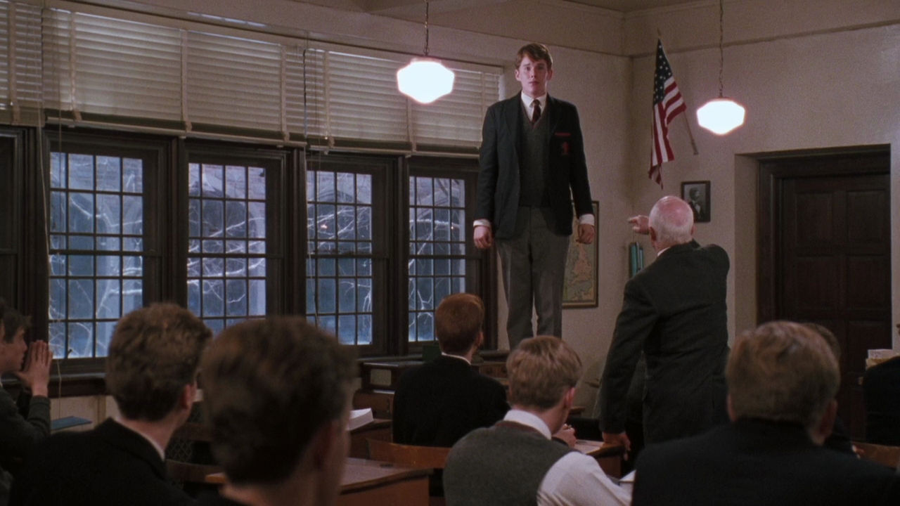 a movie analysis of dead poets society With tom schulman's script scrutinising educational conformity, the casting of robin williams as english teacher john keating is inspired keating's eccentric t.