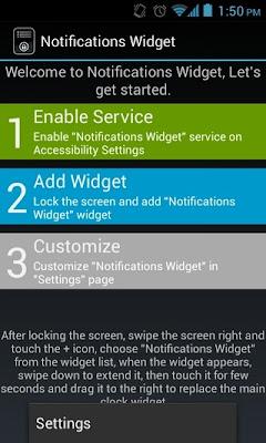 Desarrollado por unmiembroXDA Roymam, Notifications Widget es un widget personalizable para Android 4.0.3 Ice Cream Sandwich Y Jelly Bean Con el widget, puede ver e interactuar con todas las notificaciones que aparecen en la pantalla de desbloqueo de tu dispositivo Android. Ya se trate de una notificación sobre una llamada perdida o un nuevo SMS o correo electrónico, actualizar las alertas de la tienda Play, un mensaje de Gtalk, o cualquier notificación de aplicaciónes de terceros para el caso, Notificaciones Widget es capaz de mostrar un widget en la pantalla de inicio . Si tienes un Android 4.2 Jelly Bean