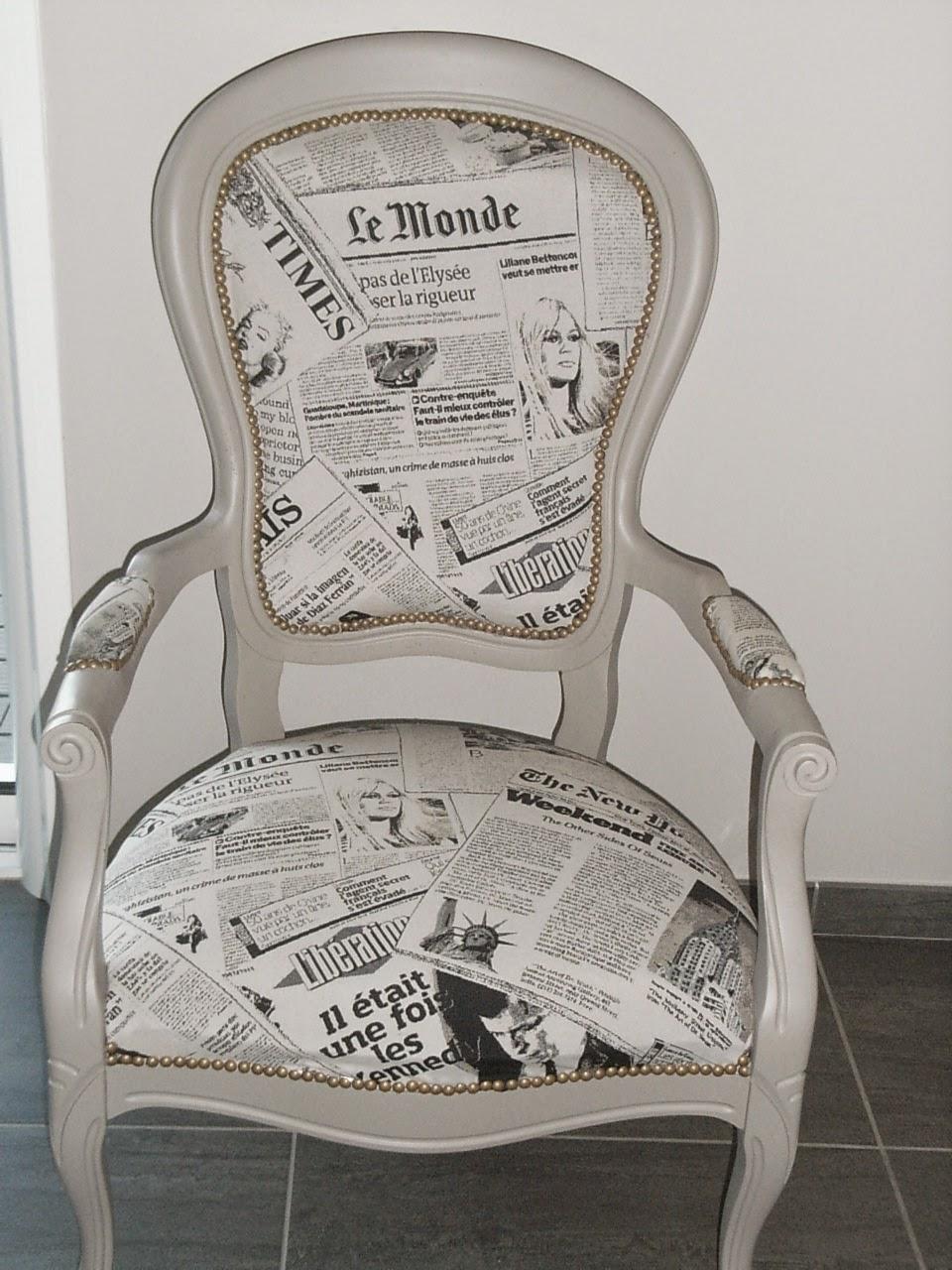 creation decoration customisation refaire un fauteuil