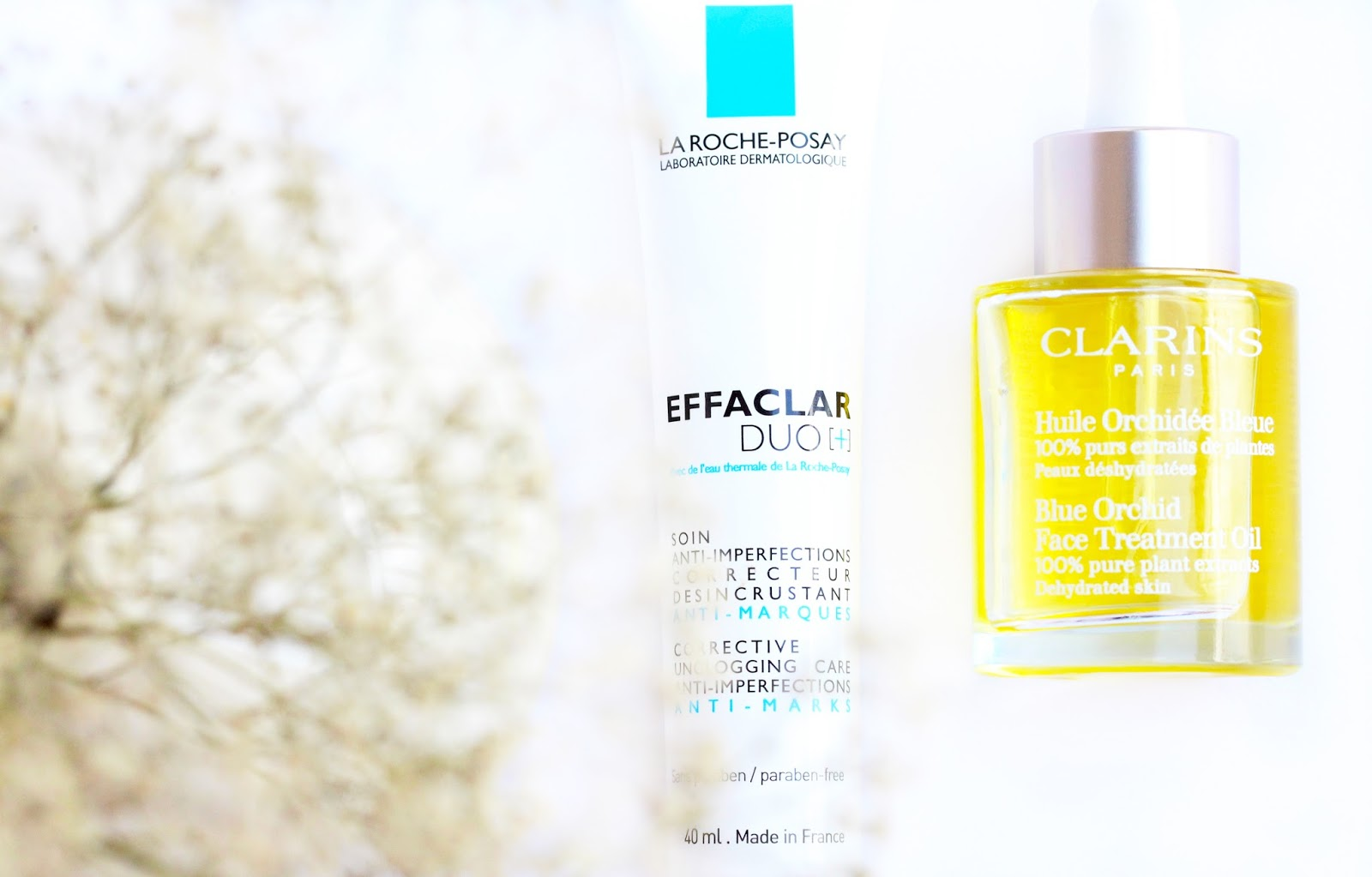 how to minimize pores, Clarins Blue orchid face oil,La Roche-Posay Effaclar Duo