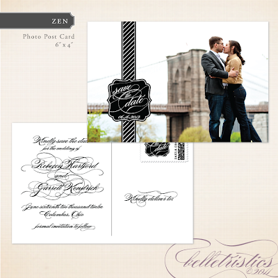 black white diagonal script printable diy wedding photo save the date postcard