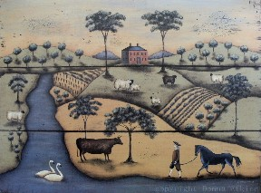 Primitive Folk Art for your Cottage Walls
