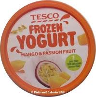 Tesco Frozen yogurt mango and passion fruit lid