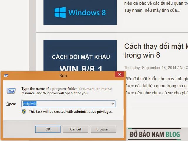 Cách gỡ bỏ mật khẩu đăng nhập Windows 8/ 8.1