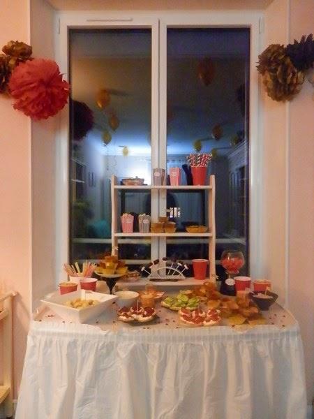 Décoration de fête d'anniversaire : buffet