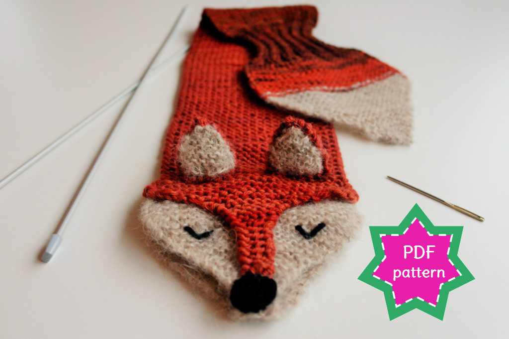 Knitting Pattern Fox Scarf : stitchES crochet : Fantastic Fox knitting pattern & kit - finally available