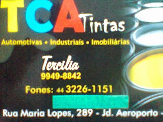 TCA  TINTAS COM GRANDE PROMOÇÃO  CONFIRA  MASSA CORRIDA  19,00  TINTA PISO 39,90  TCA TINTAS