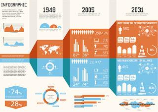 データ レポート図案テンプレート Data report figure イラスト素材